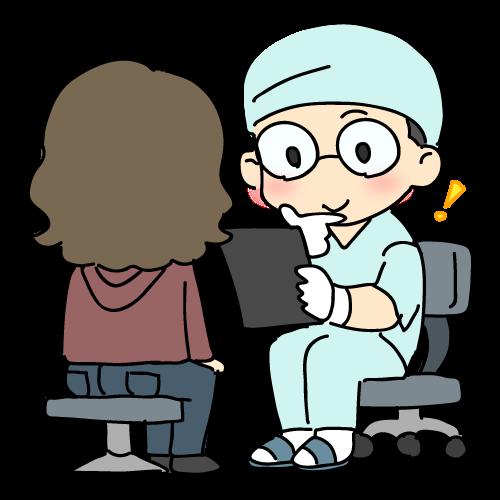歯科医に相談しているイラスト