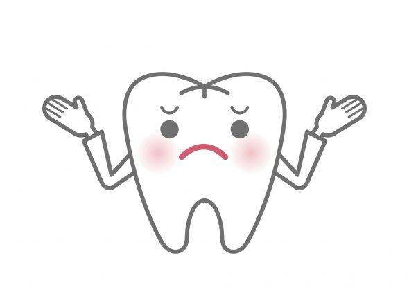 歯の困ったイラスト