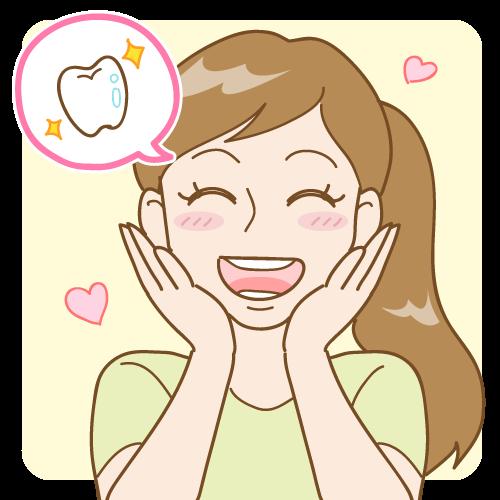 歯が好感触の女性のイラスト