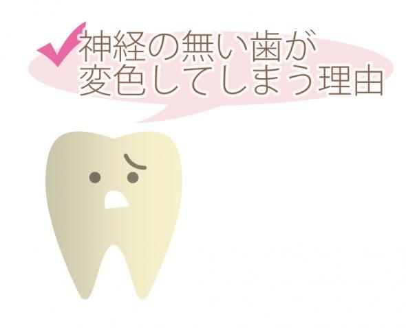 神経の無い歯が変色してしまう理由