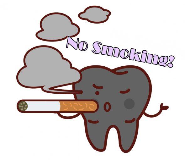 喫煙をする歯のイメージイラスト